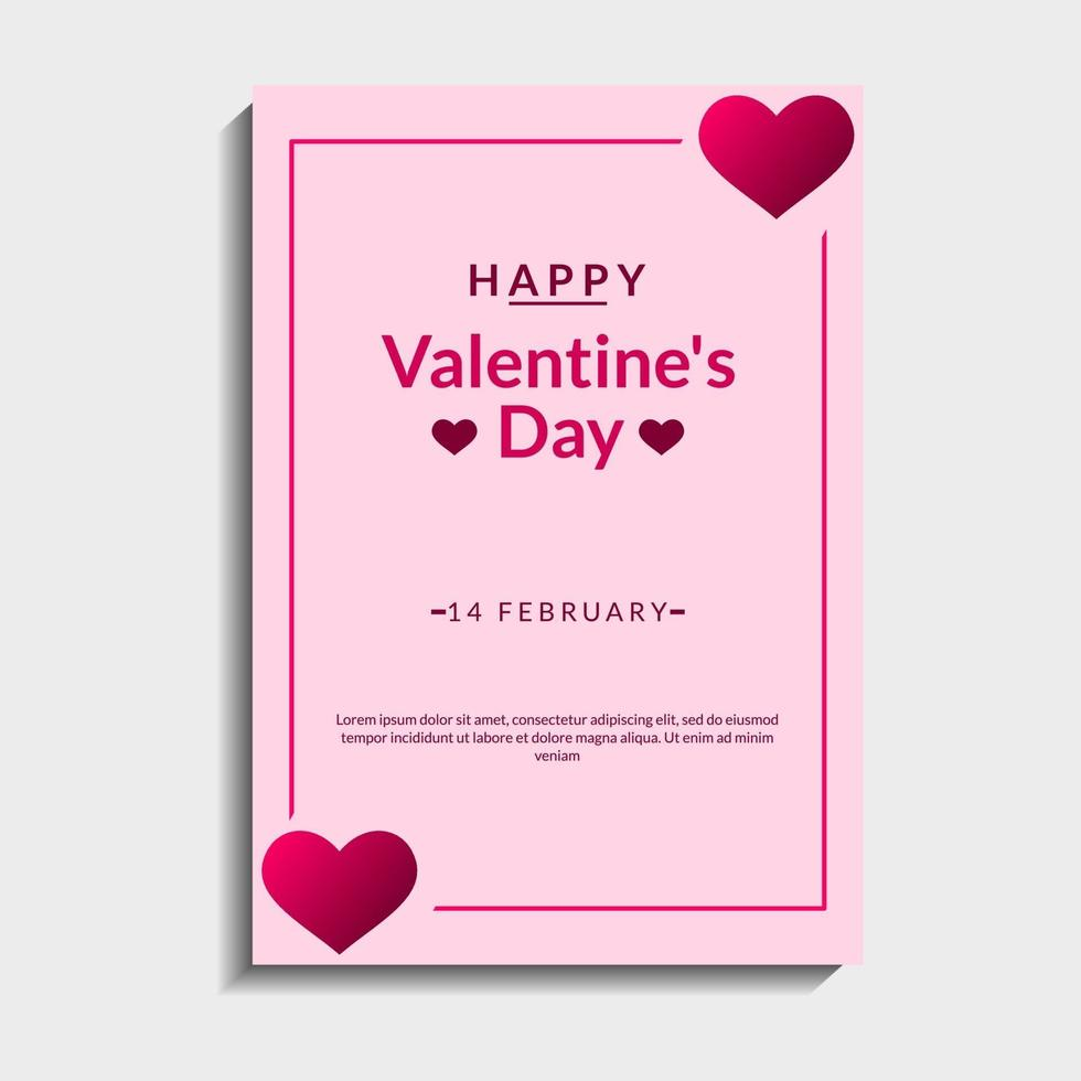 schöner Valentinstag Hintergrund vektor