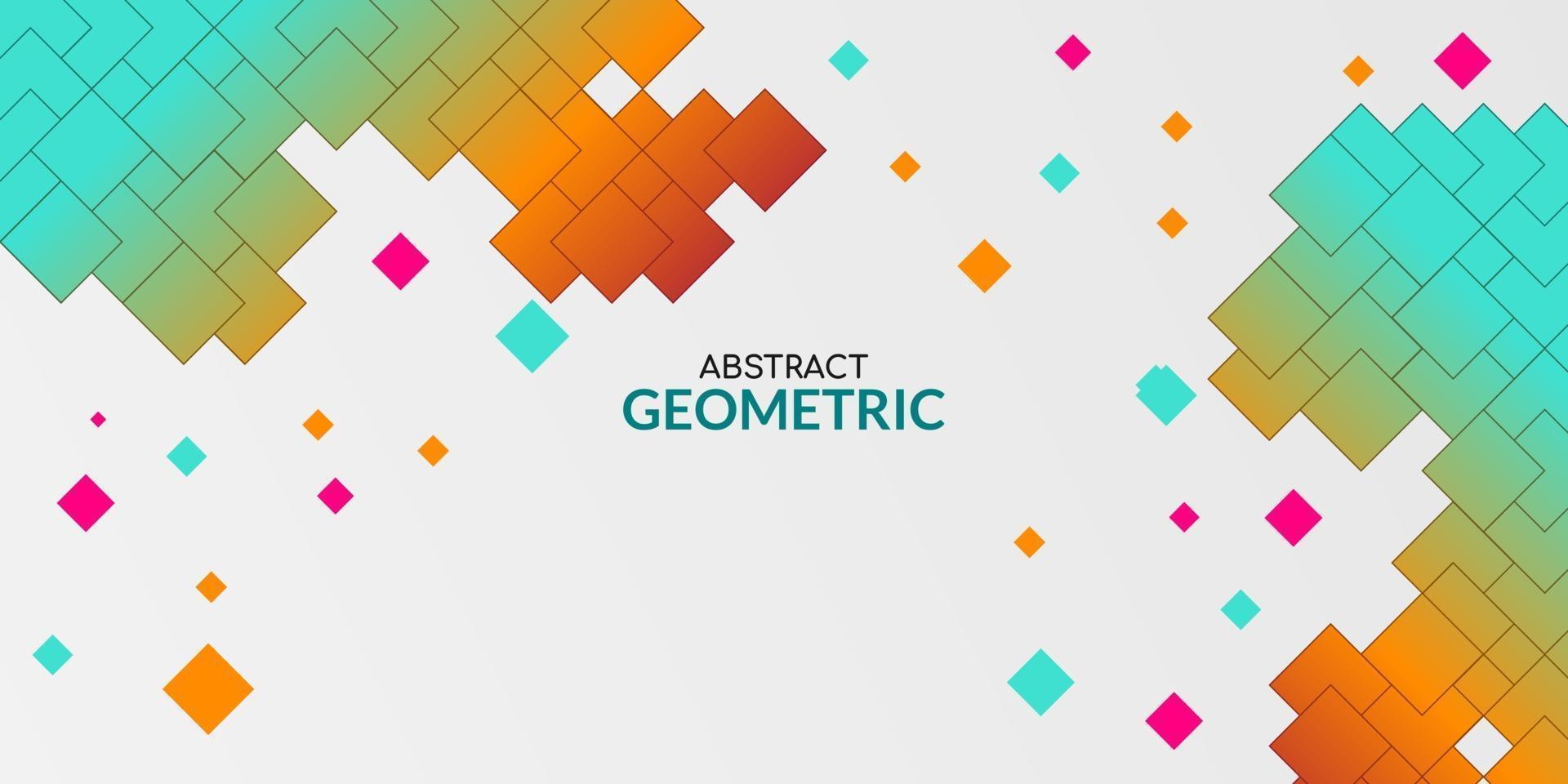 abstrakt bakgrund med färgglada geometriska lutningsformer vektor
