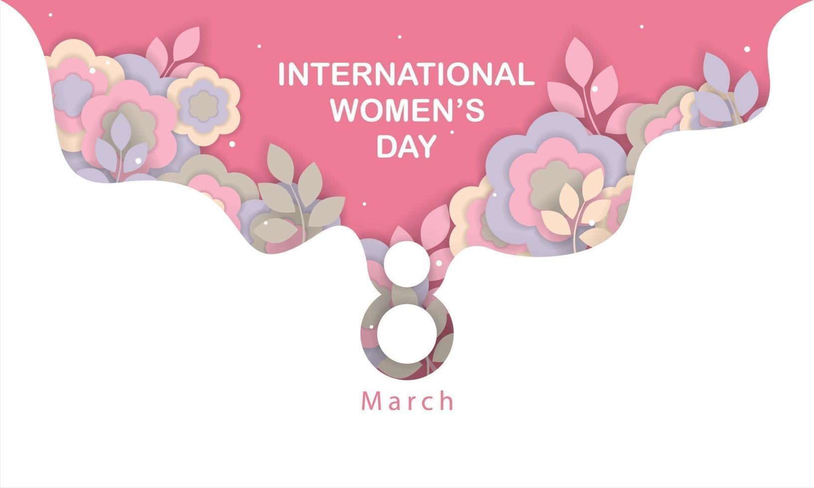 internationell kvinnodag konceptillustration med blommor vektor