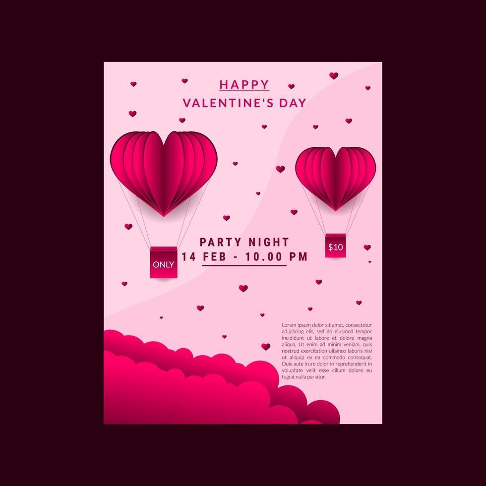 Alla hjärtans dagskort vektor