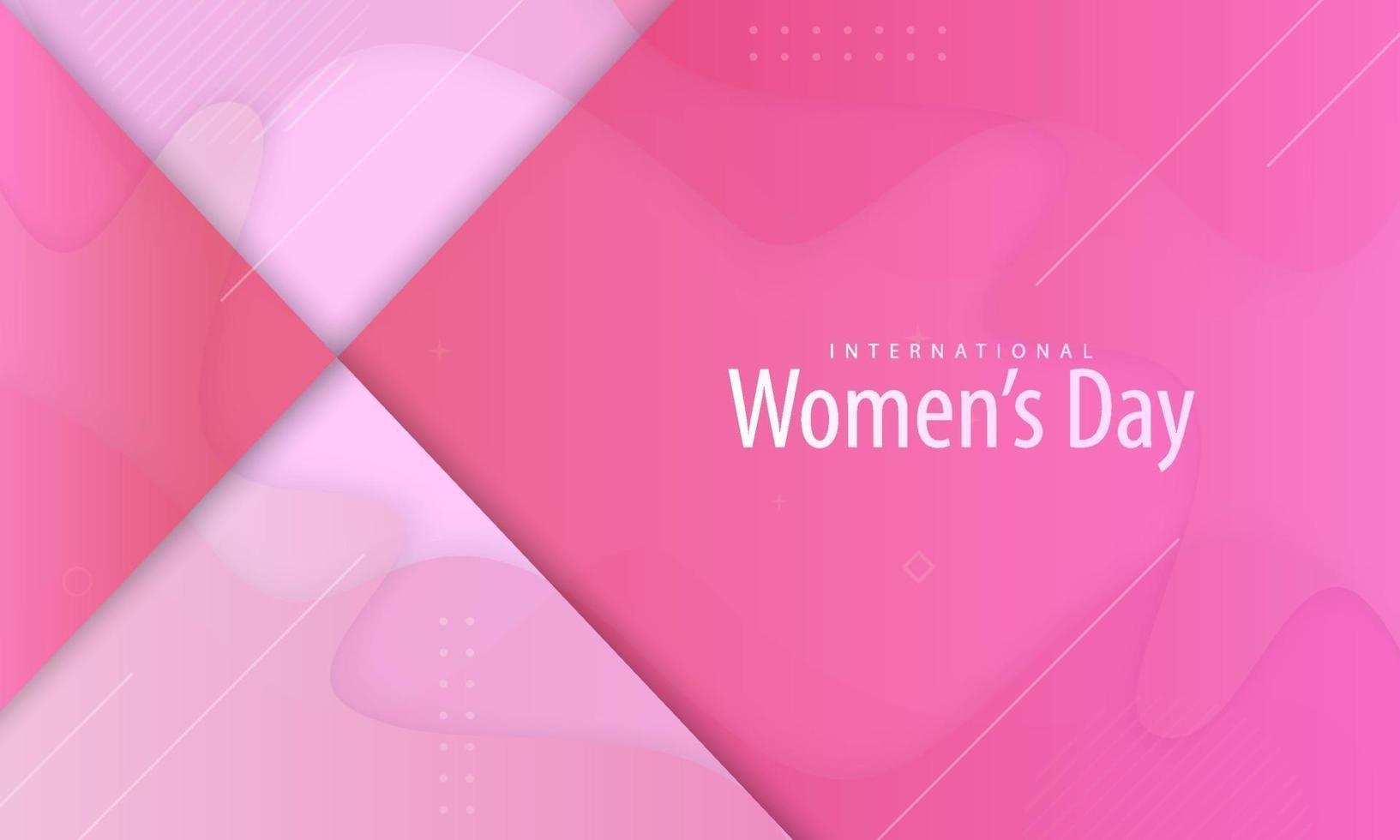 internationell kvinnodagsaffisch i rosa färg vektor