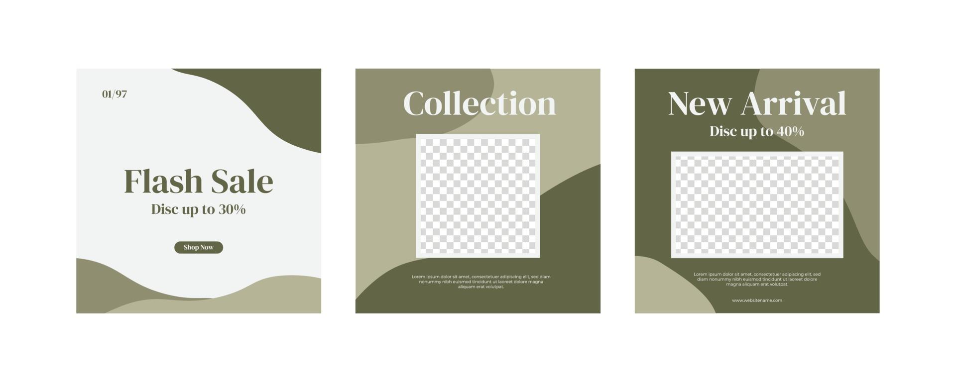 minimalistiska moderna möbler sociala medier inlägg vektor