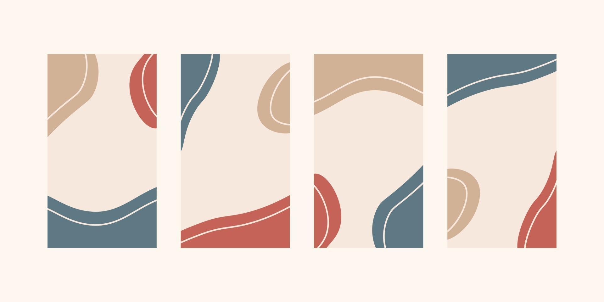 trendig abstrakt universell mall med naturkoncept för berättelser om sociala medier vektor