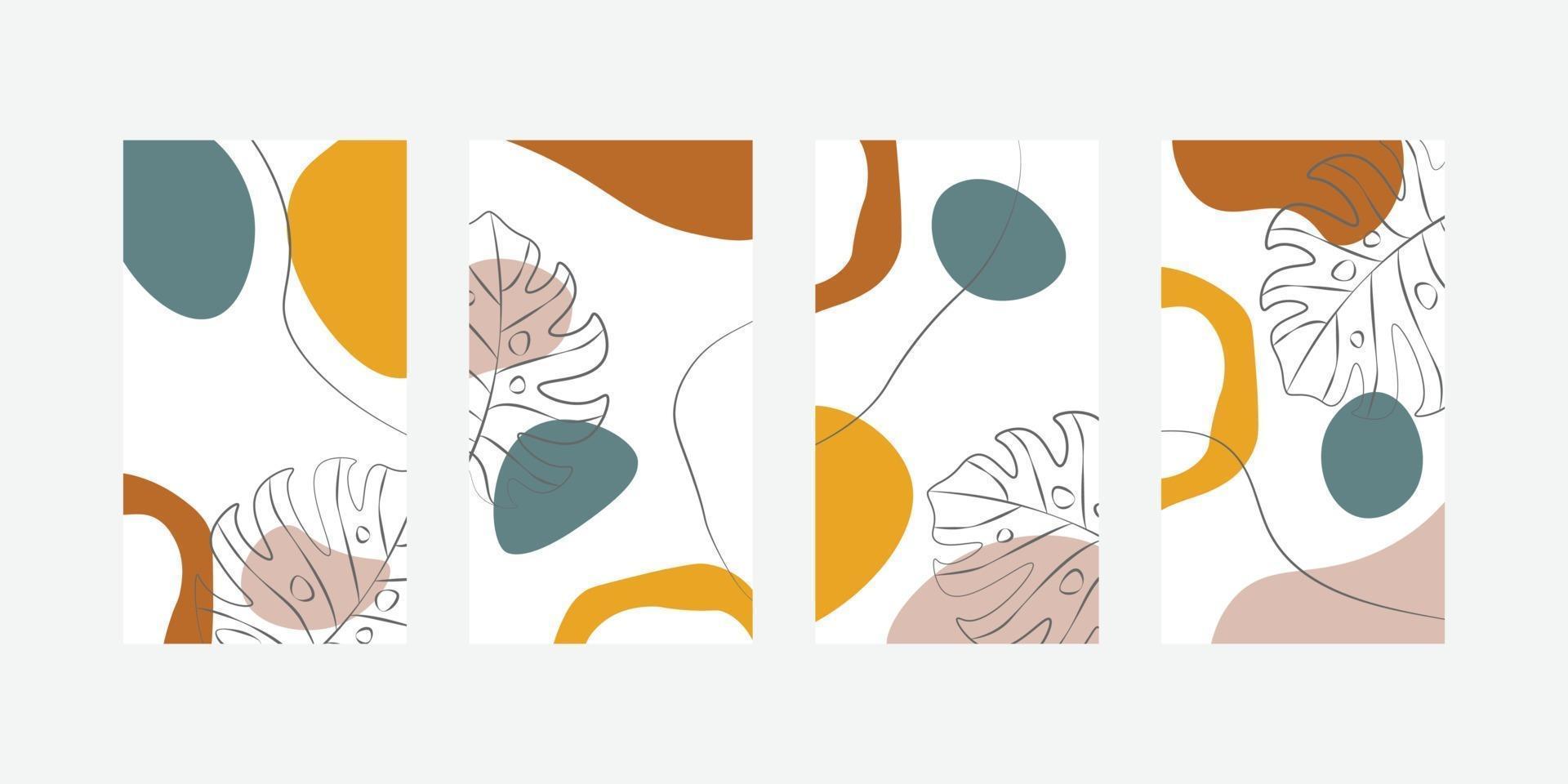 trendige abstrakte universelle Vorlage mit Naturkonzept für Social-Media-Geschichten vektor