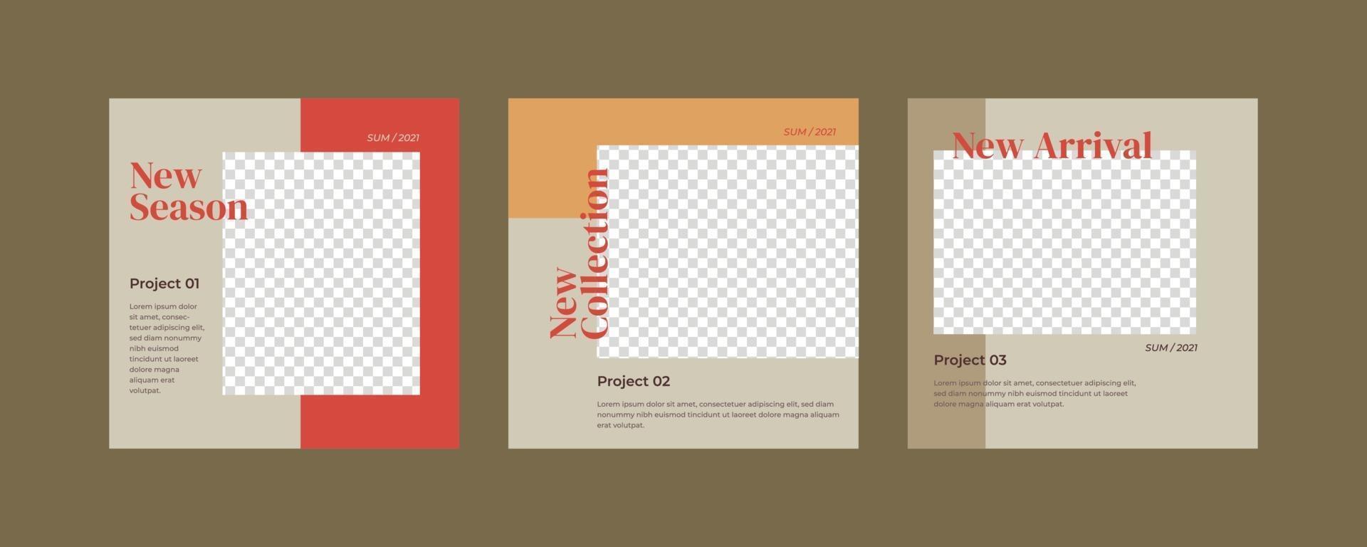 minimalistisk post för sociala medier. vektor
