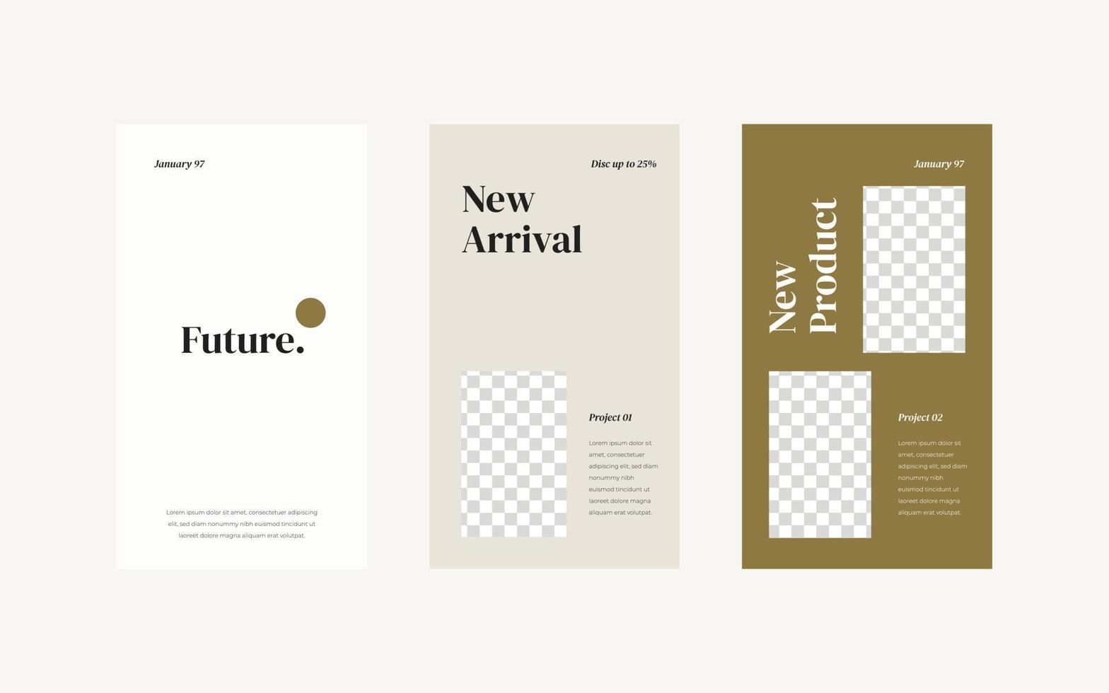 Vorlage für minimalistische Social-Media-Geschichten. vektor