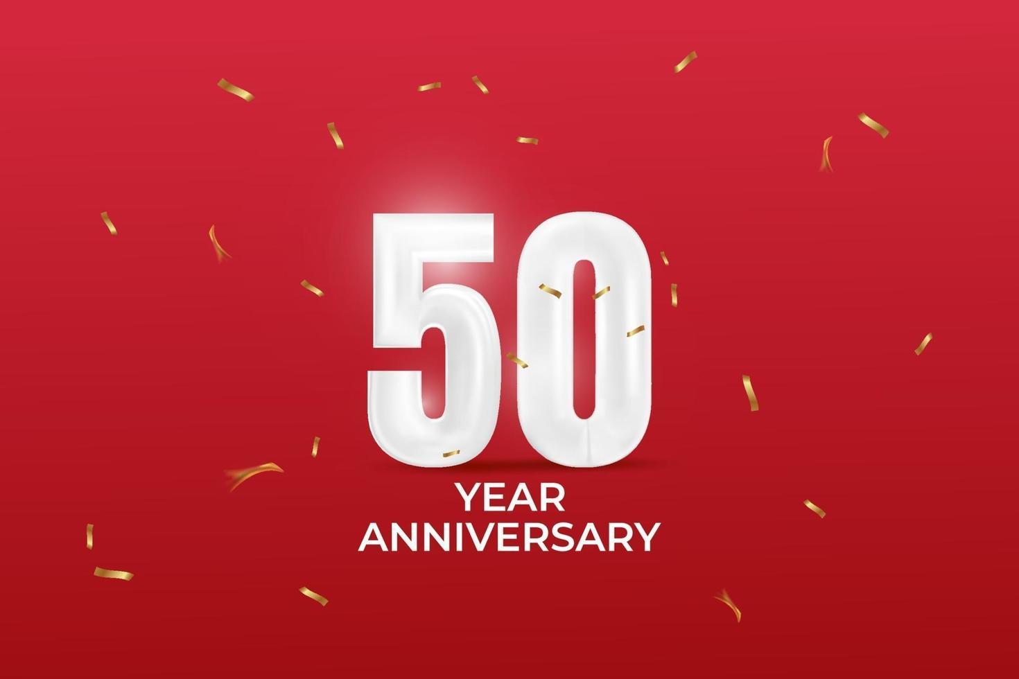 50 Jahre Jubiläum Vektor Vorlage