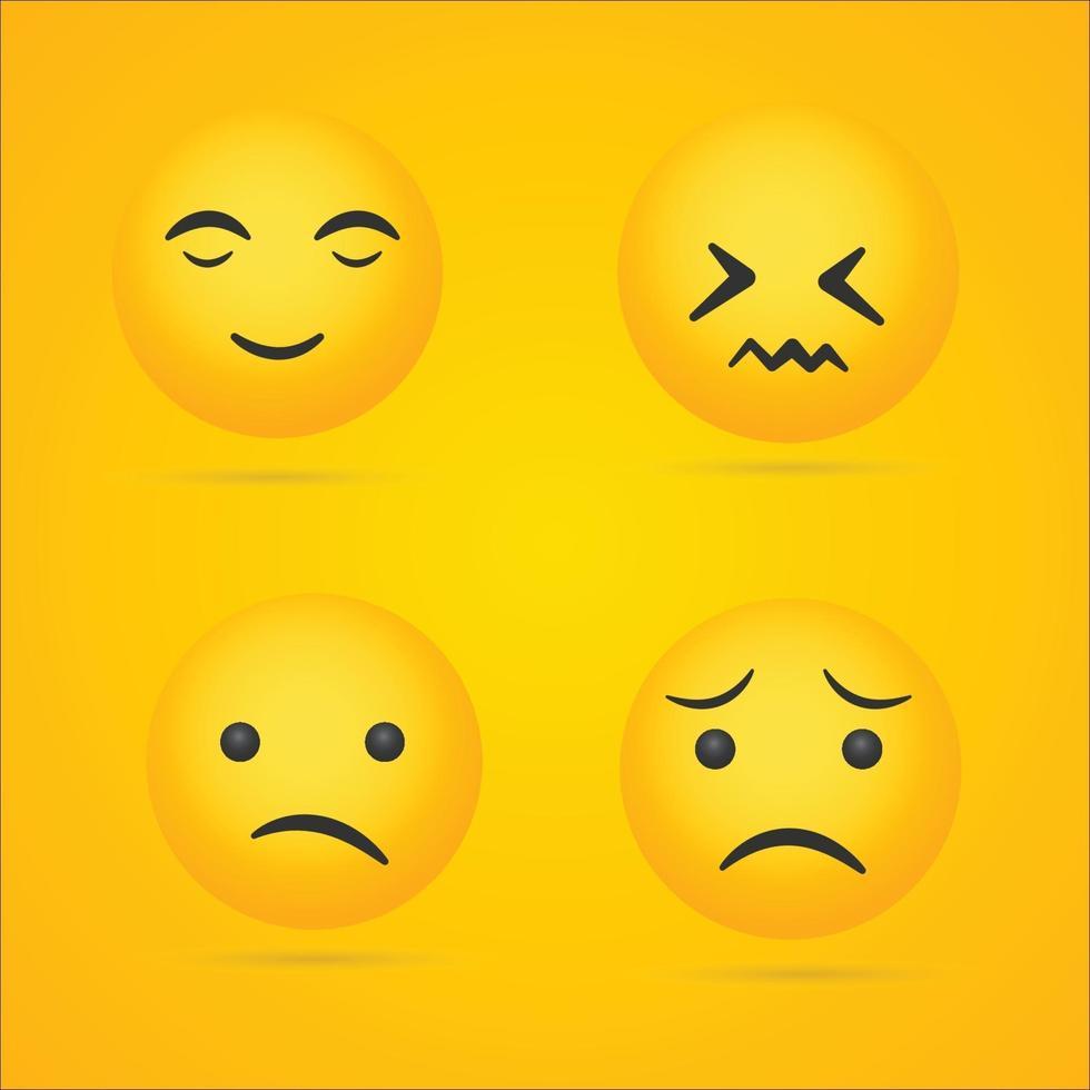 emoji samling vektor