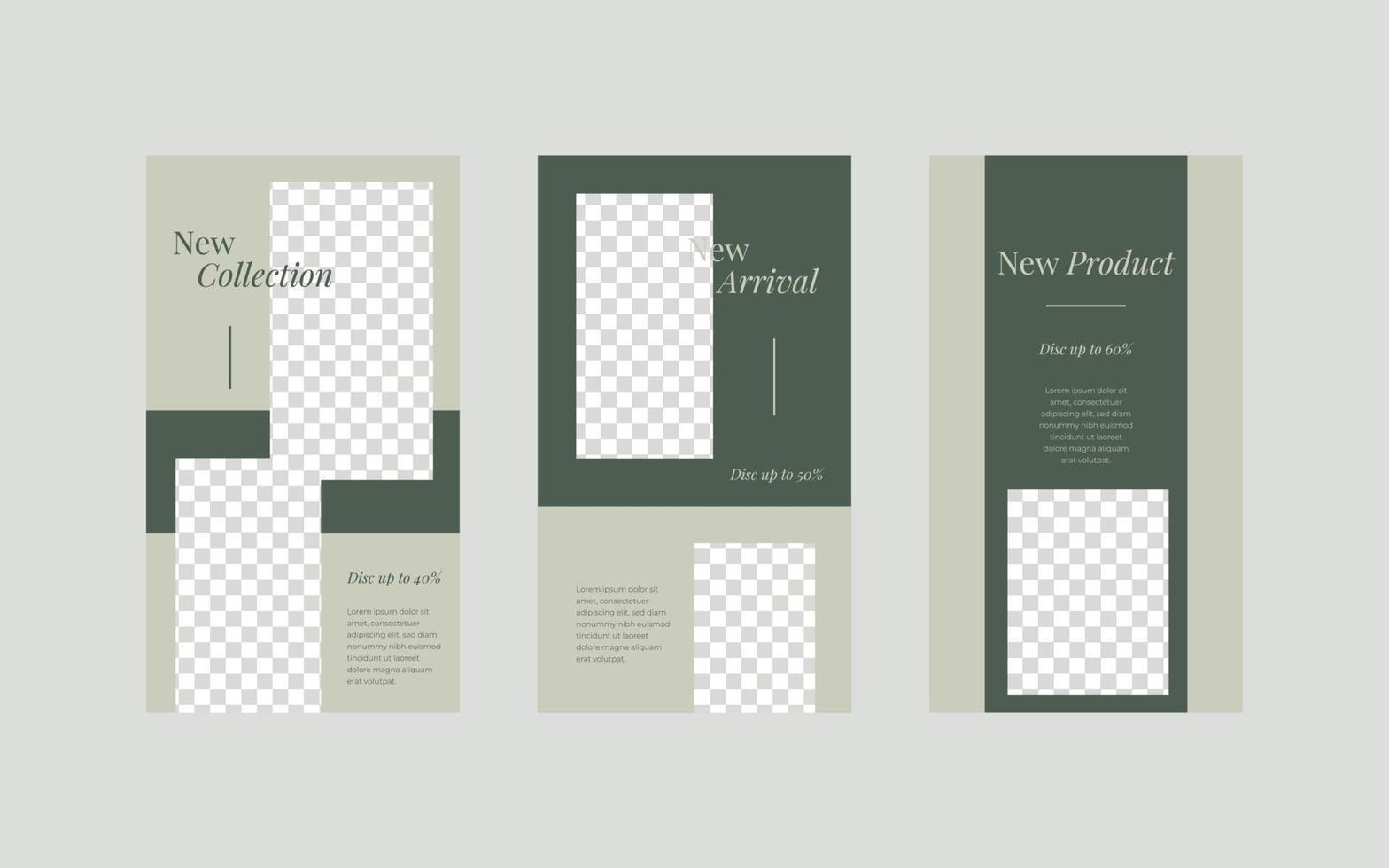 minimalistisk berättelsemall för sociala medier. vektor