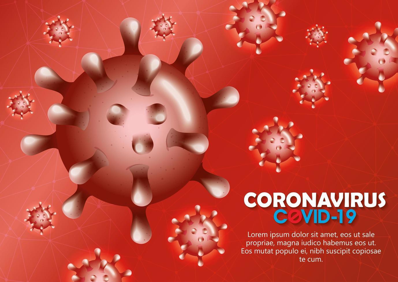 Hintergrund der Coronavirus-Kampagne vektor