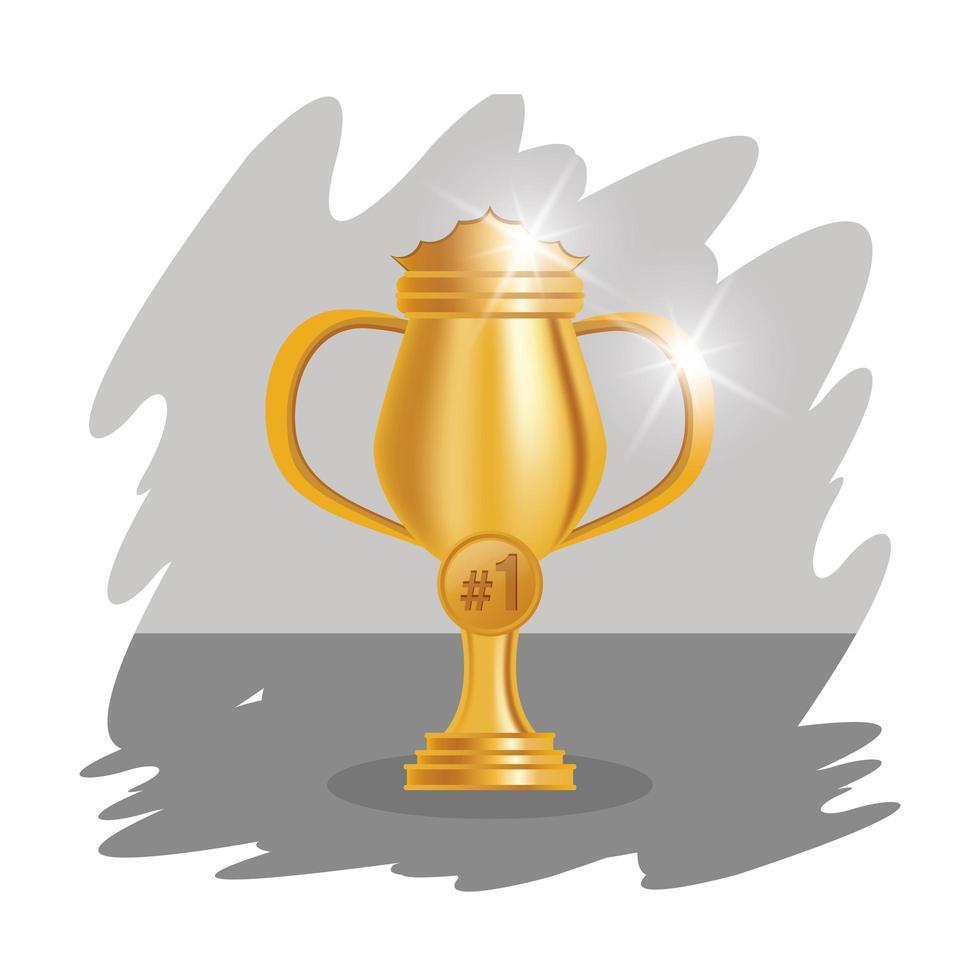 gyllene trofé cup pris ikon vektor