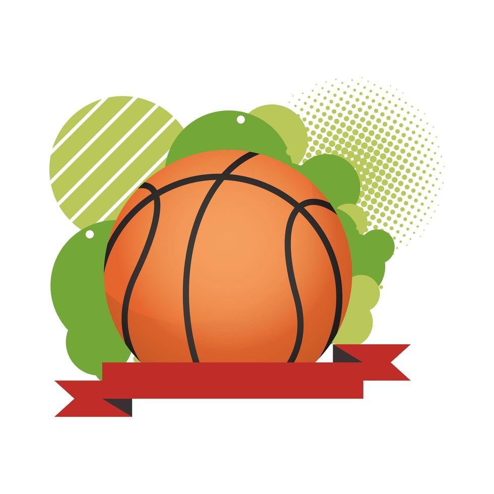 basket med band ram vektor
