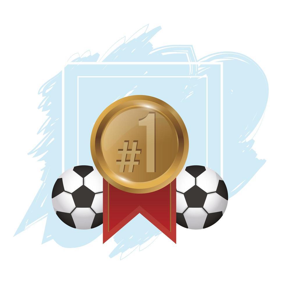 fotbollar med medaljpris vektor