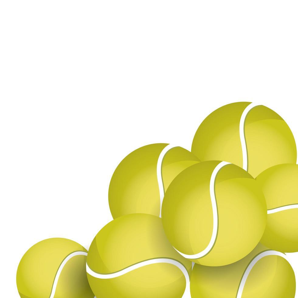 tennisbollar ikoner för sportutrustning vektor