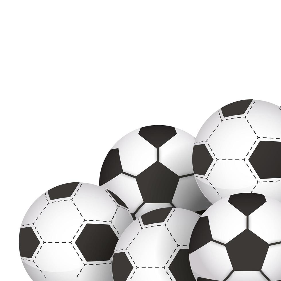 ikoner för fotbollsutrustning vektor