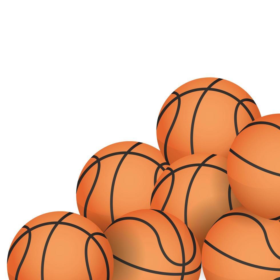 ikoner för basketutrustning vektor