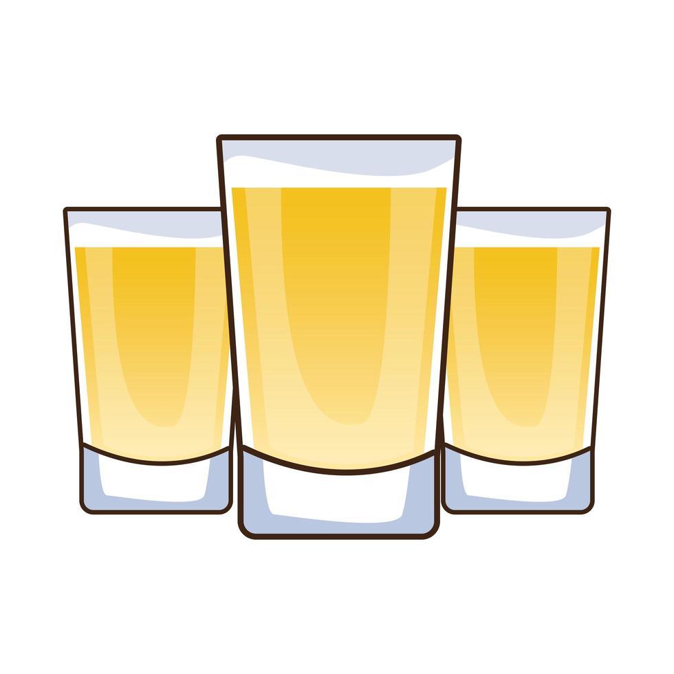 tequila drinkar isolerad ikon vektor