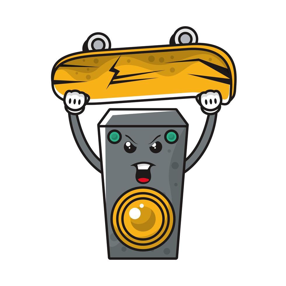 högtalare med komisk karaktär vektor
