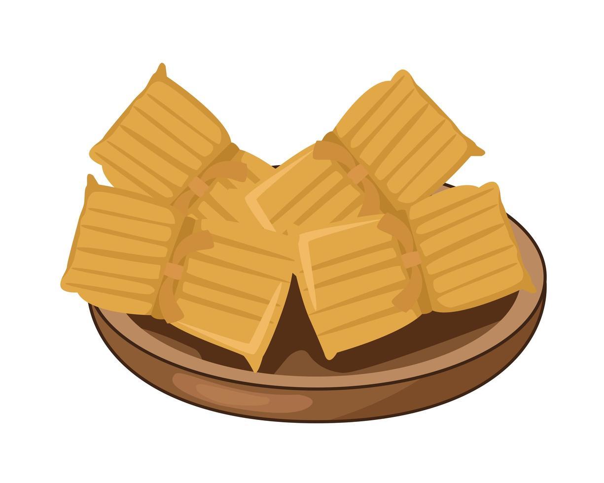 utsökt mexikansk nachos traditionell mat vektor