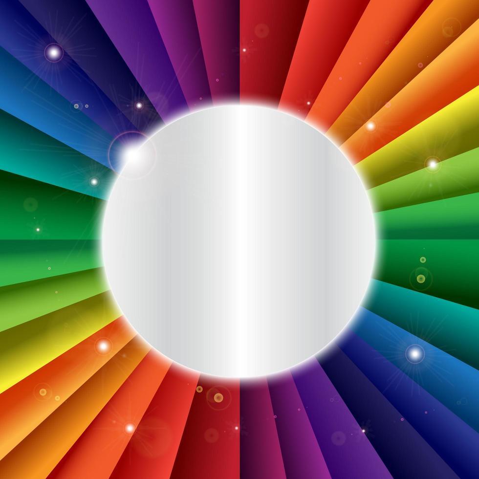 ljusa vektor rainbow firande semester banner