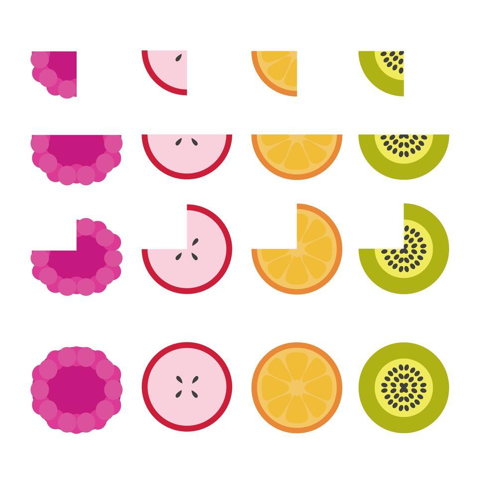Vektor Früchte gesetzt