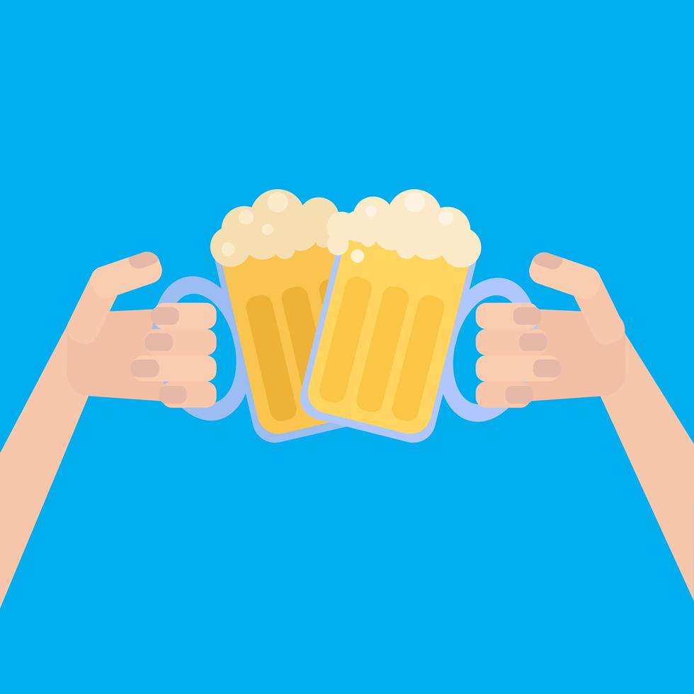 oktoberfest affisch med öl vektor