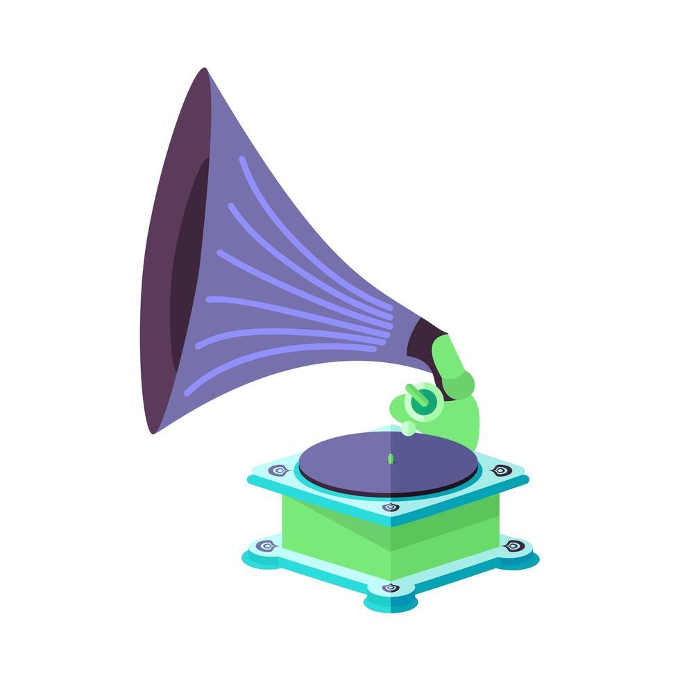 vektor ljusa platta gamla grammofon