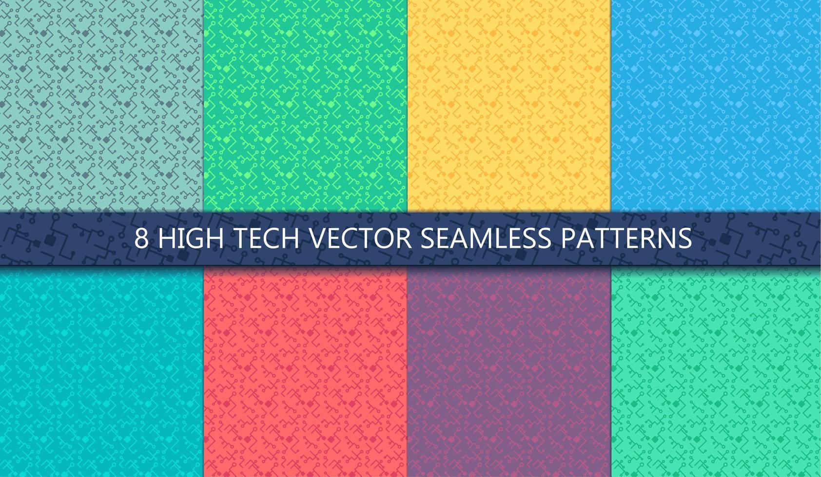 dator processor chip sömlösa mönster vektor