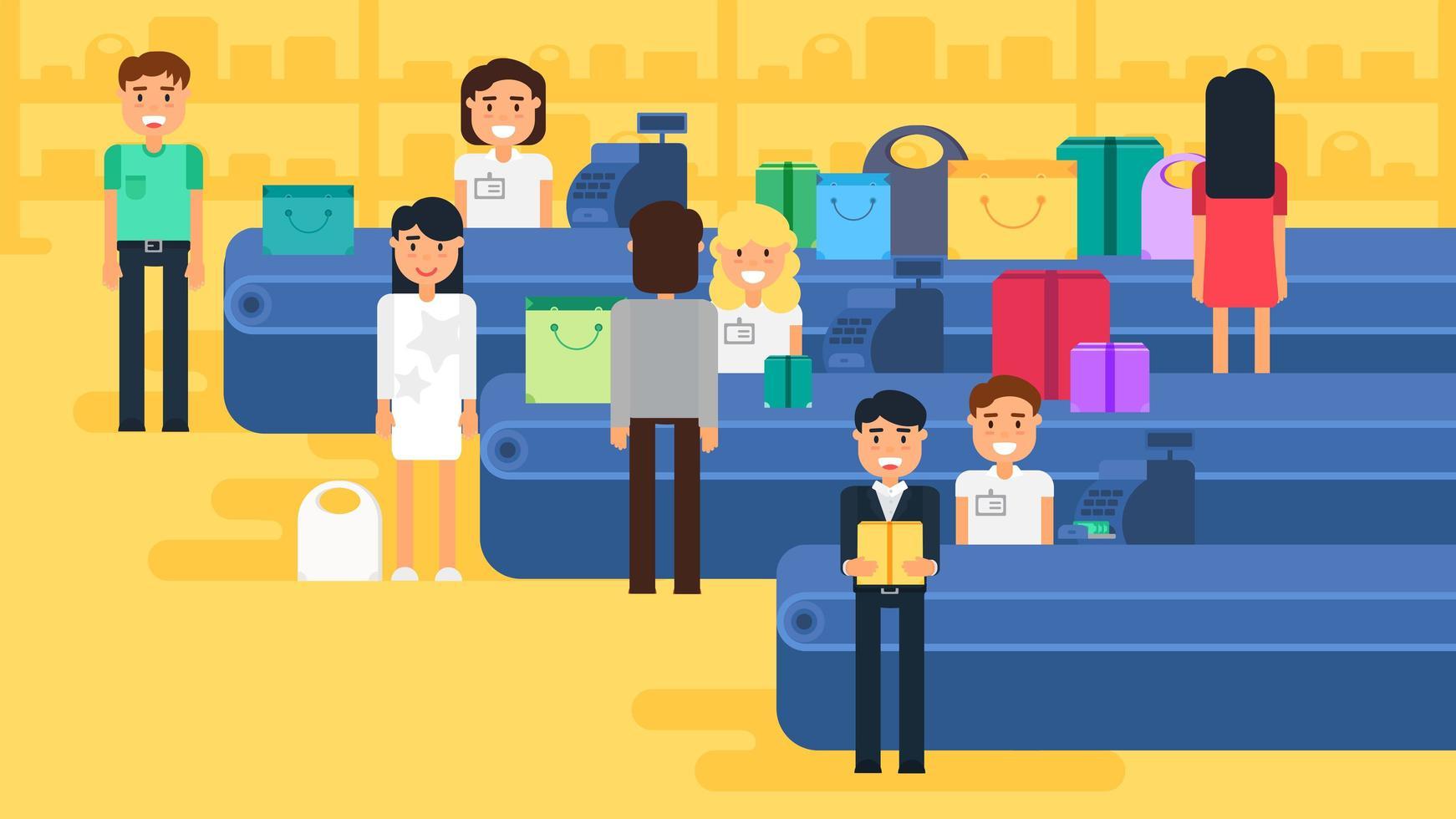 shopping koncept illustration vektor