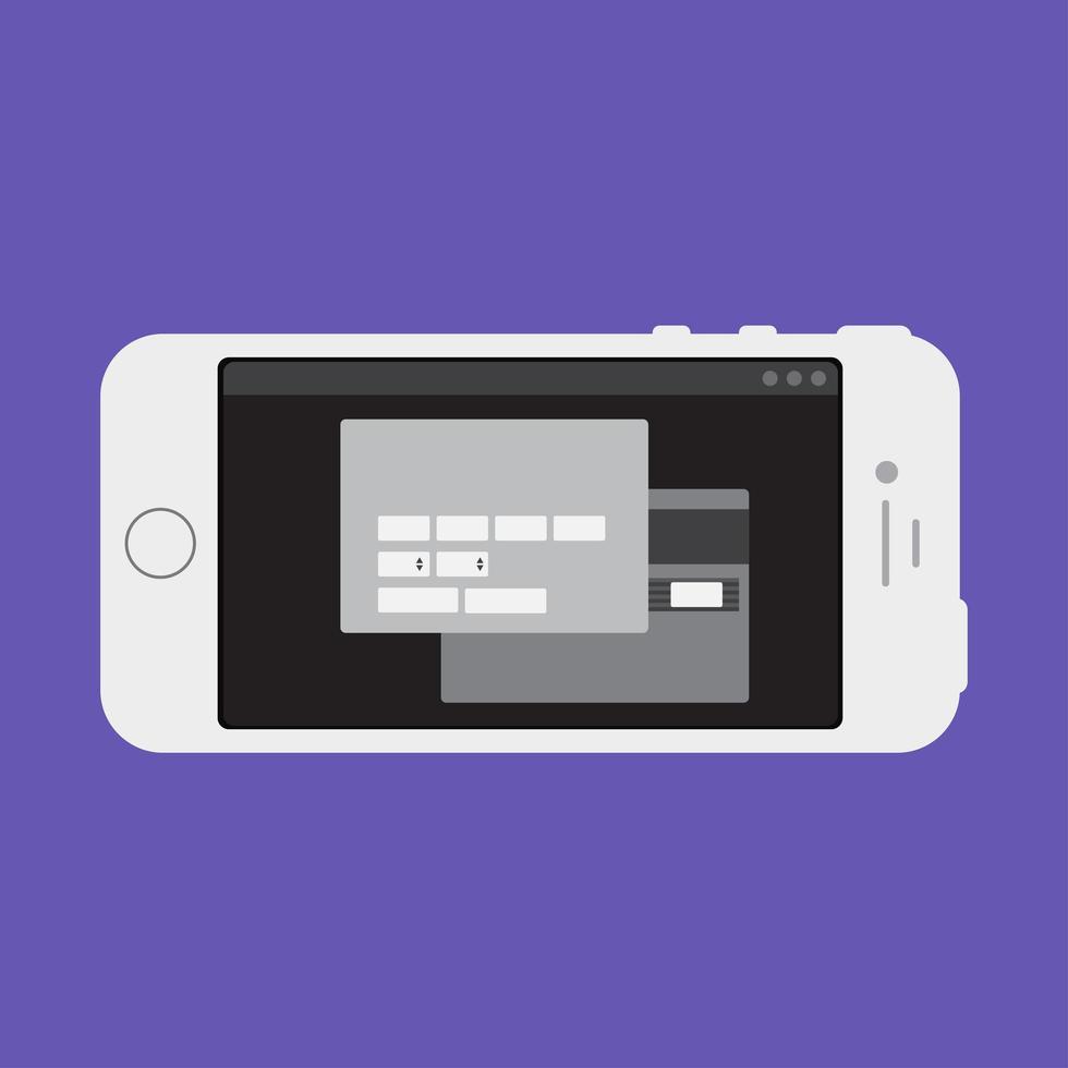 webbmall för smartphone online shoppingformulär vektor