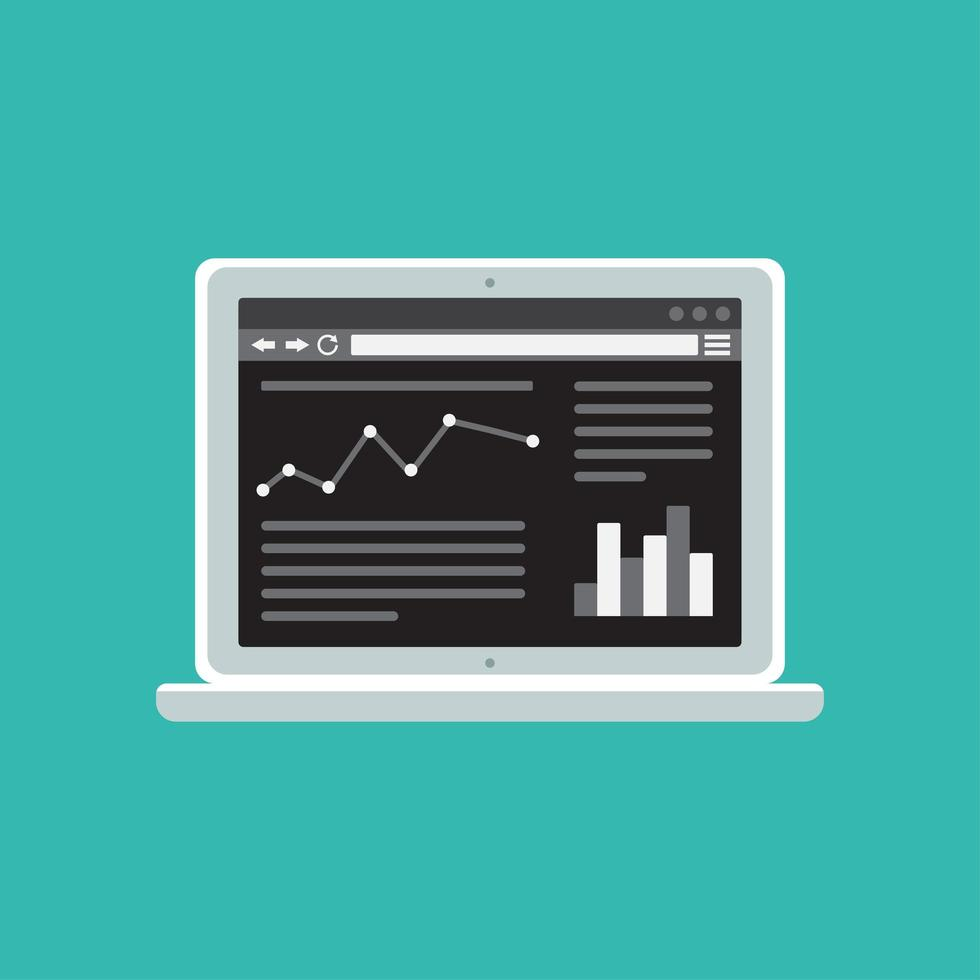 Webvorlage der Computer-Site oder des Artikelformulars vektor