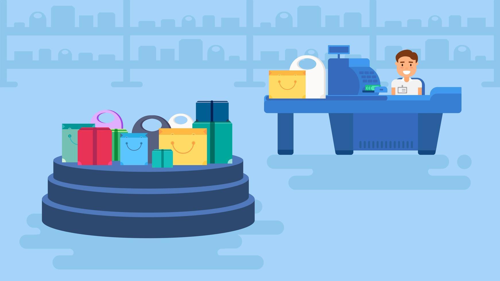 Einkaufskonzept Illustration vektor
