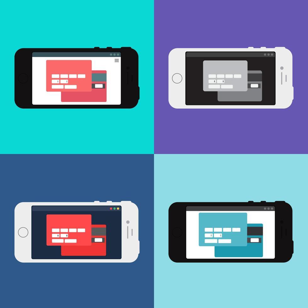Web-Vorlage des Smartphone-Online-Einkaufsformulars vektor