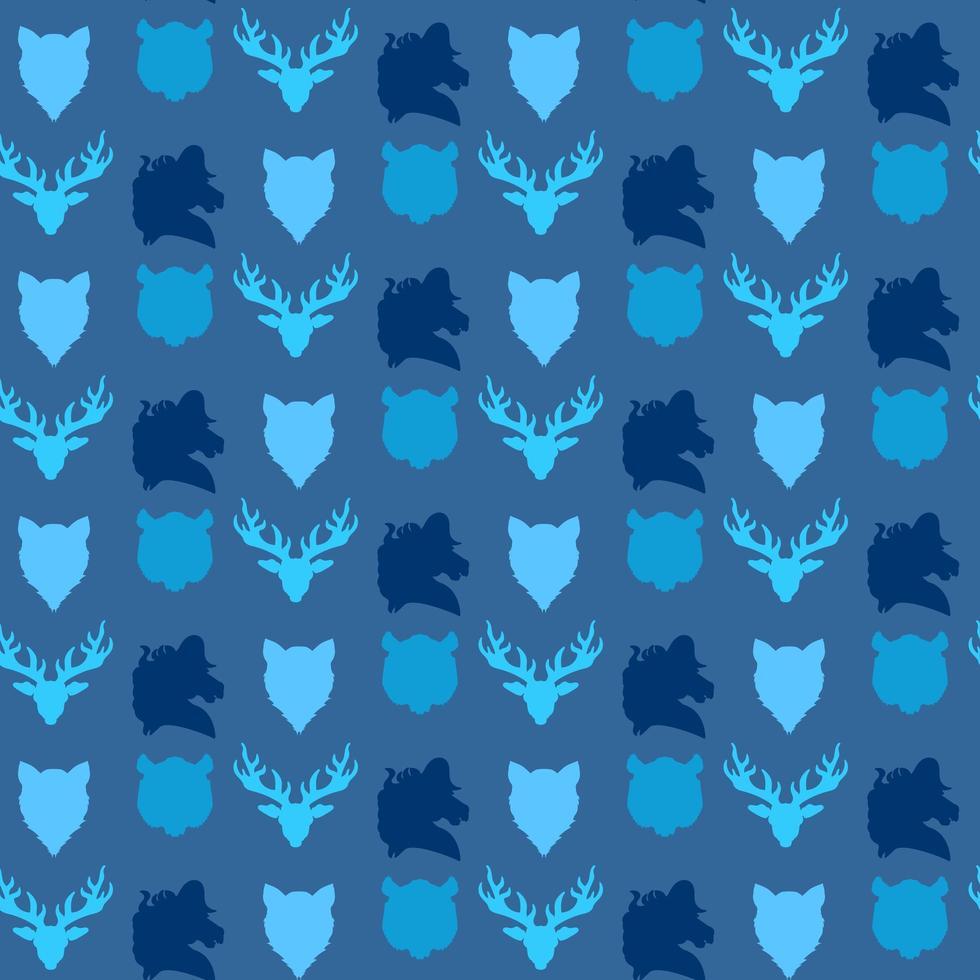 vilda djur sömlösa mönster vektor
