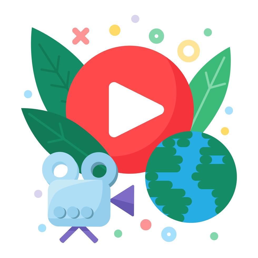 Social Live Stream Konzept Symbol vektor