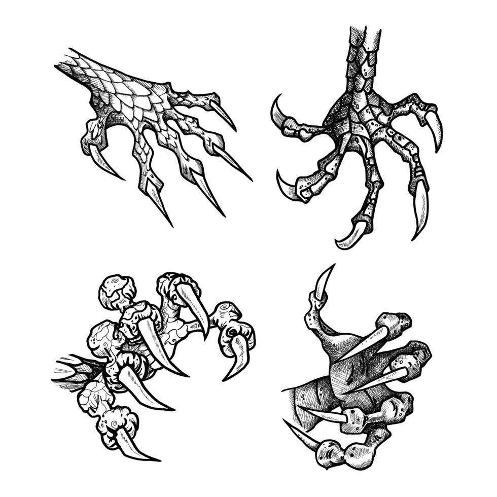 Drachen- oder Monsterpfote vektor