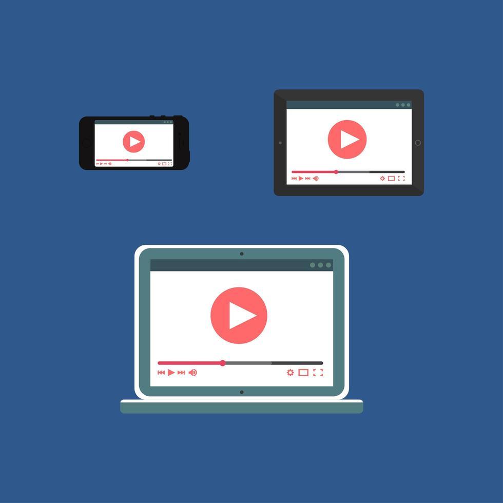 webbmall för adaptiv videoform vektor