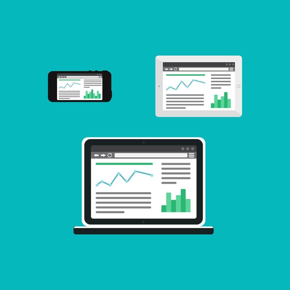 webbmall för anpassningsbar webbplats eller artikelform vektor