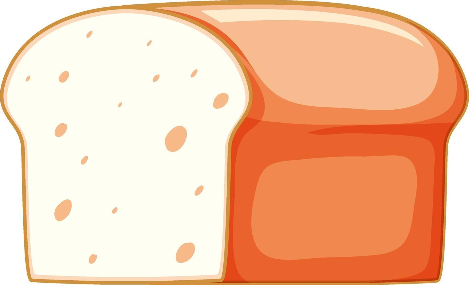 isolerad enkelt bröd onwhite bakgrund vektor