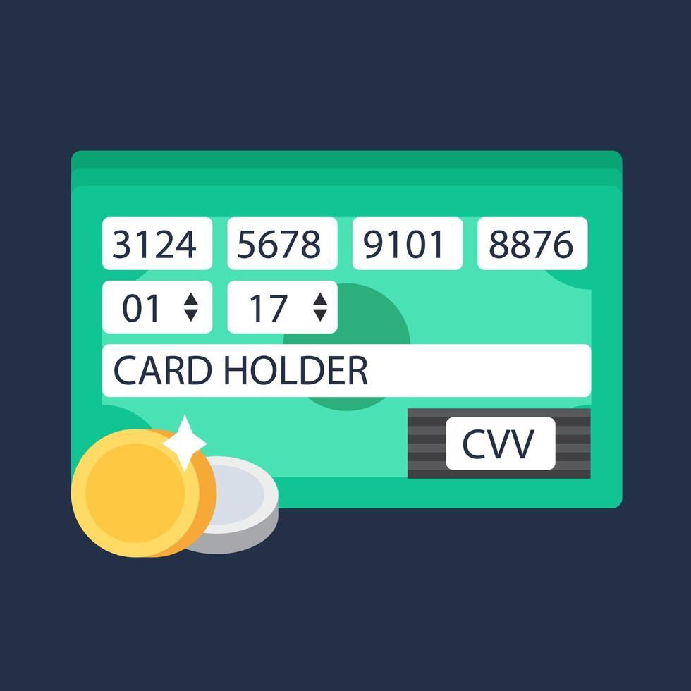 Website-Form des Online-Shoppings vektor