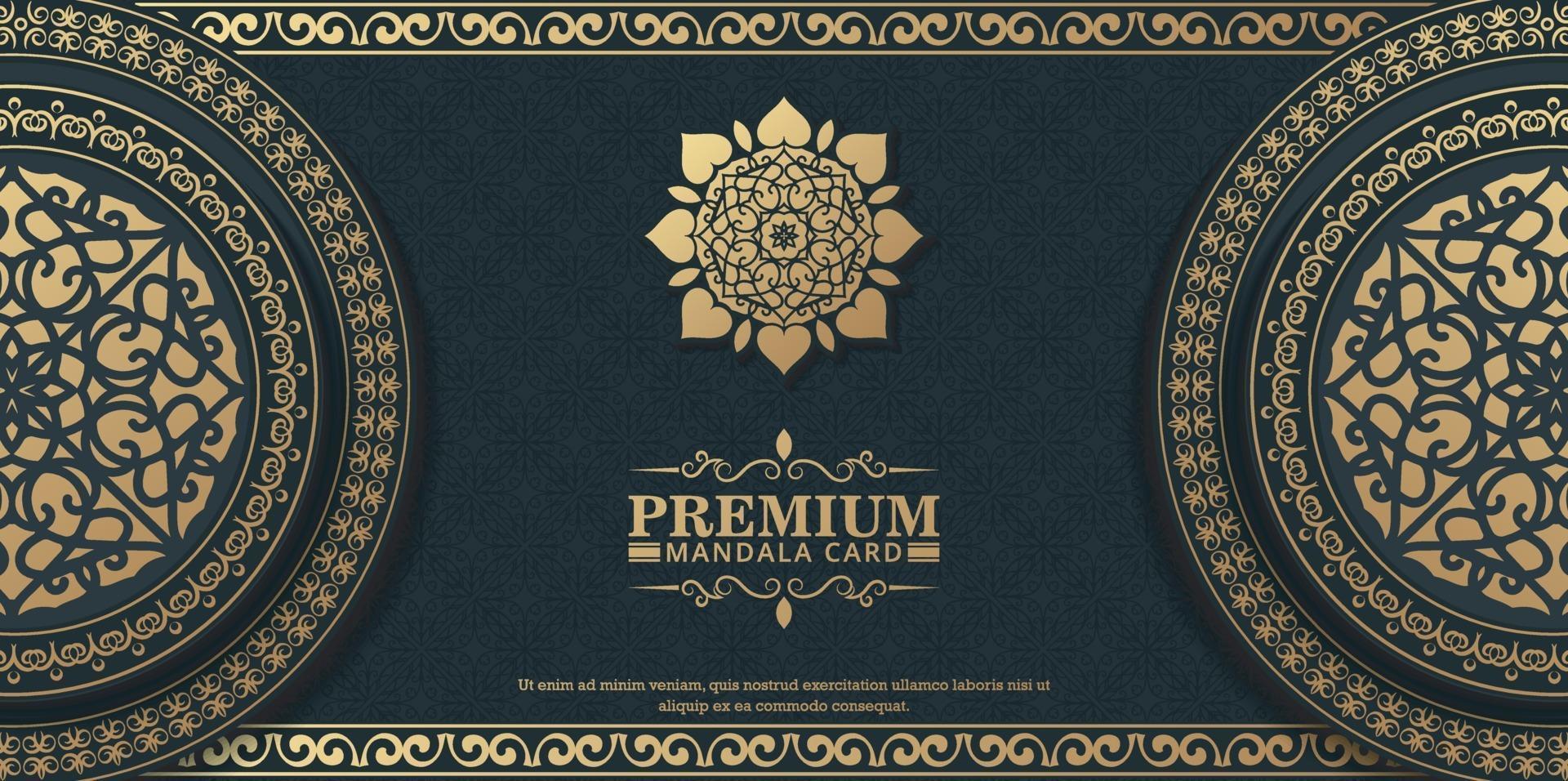 lyx prydnads mandala bakgrund med arabiska islamiska östra mönster stil premium vektor