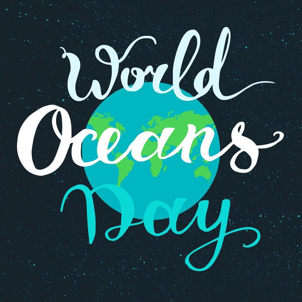 världens havsdag vektor