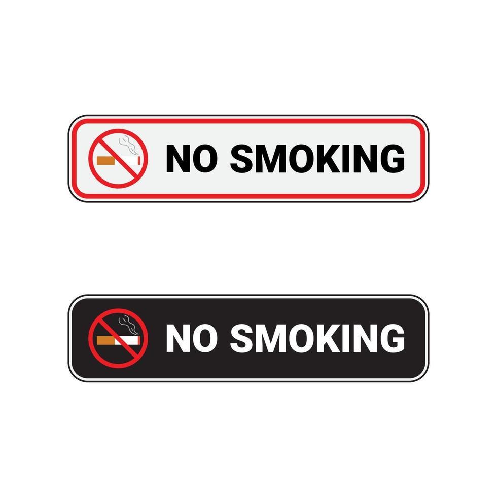 ingen rökning rektangulär skylt förbud vektor