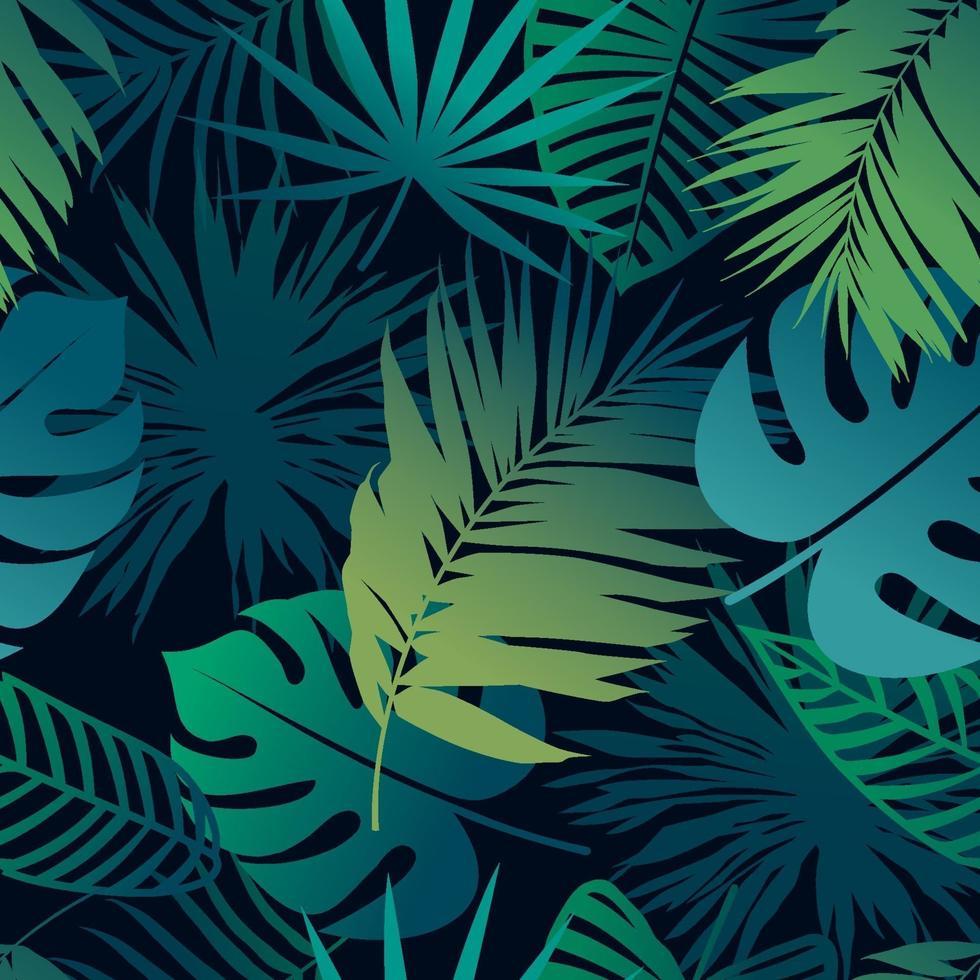 nahtloses Muster der tropischen Blätter vektor