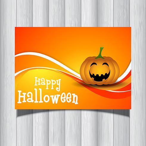 Halloween-Kürbis-Flyer vektor