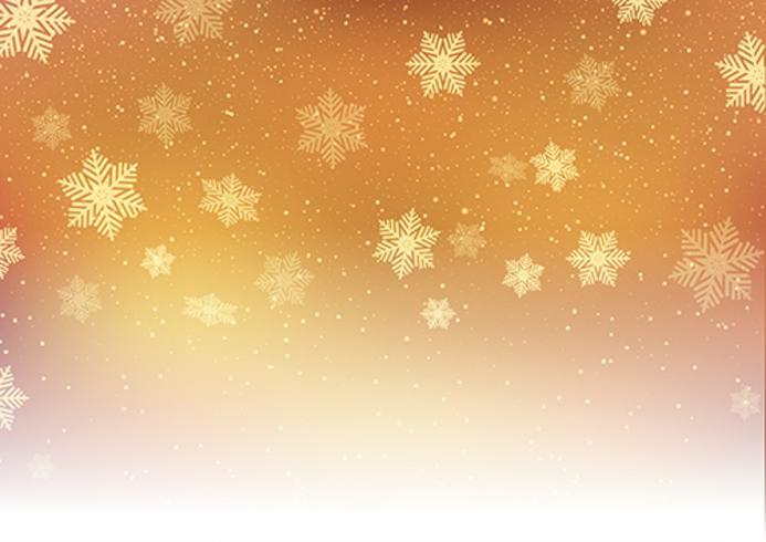 Golden Christmas snöflingor vektor