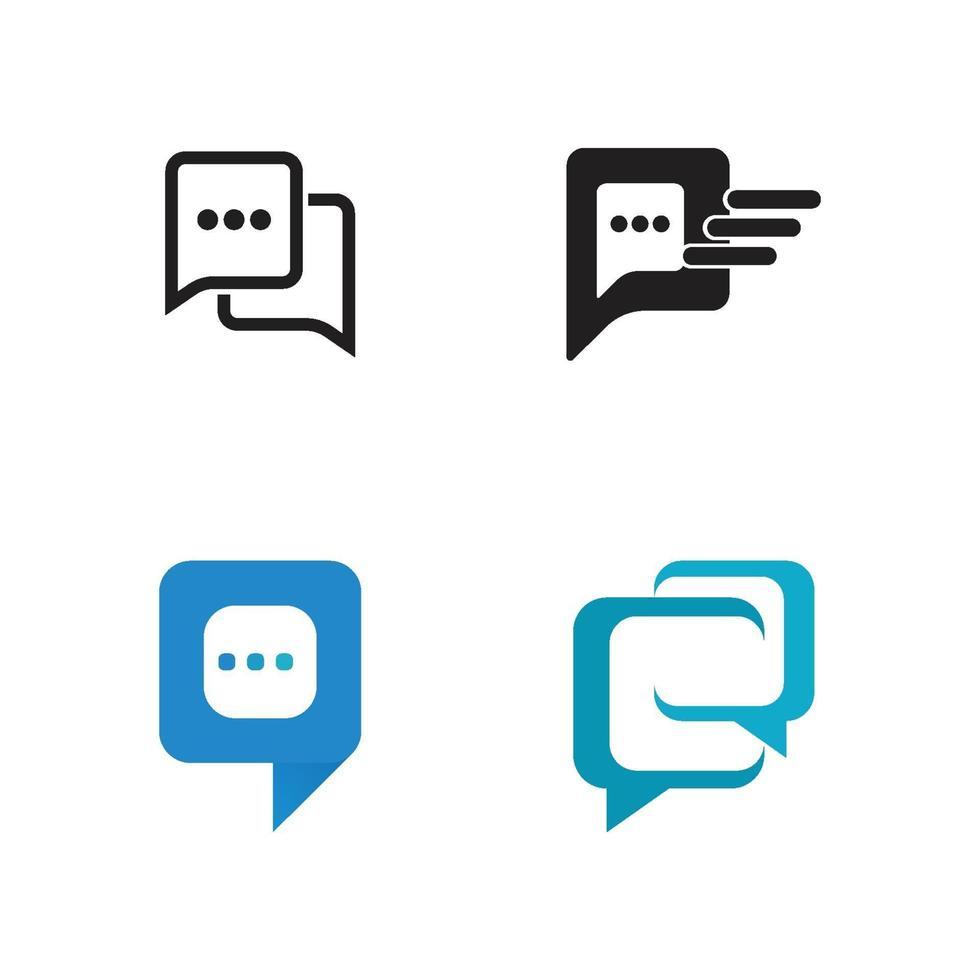 chatt ikon vektor