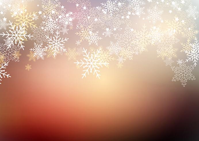 Jul vinter snöflingor vektor