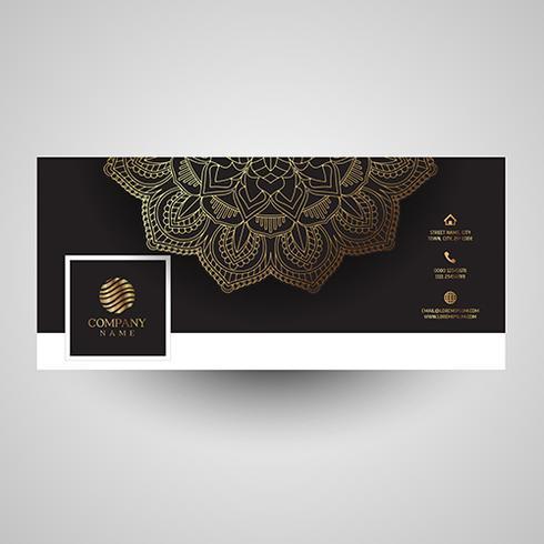 Dekorativt socialt mediaskydd med mandala design vektor