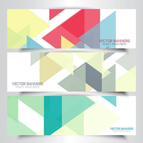 Abstrakta geometriska banderoller vektor